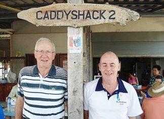 Winner Vance Millar (left) with runner-up Richard Hall.
