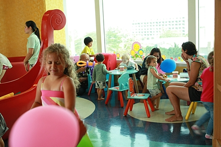 Youngsters enjoy the Kids Club at Holiday Inn Pattaya.