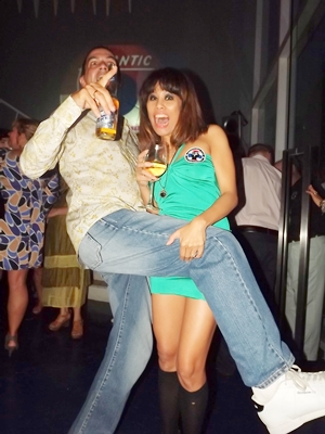 High jinks on Northern Soul night.