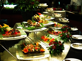 Spectacular seafood buffet at the Royal Cliff Resort.