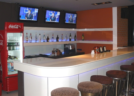 Upstairs bar.