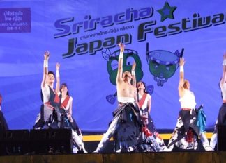 Dancers perform at the Thai-Japan culture exchange festival.