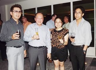 Prayuth Thamdhum, GM of The Montien Pattaya, Chatchawal Supachayanont, Jan and James Jeerapat owners of Hotel J, Pattaya.