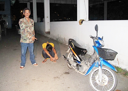 That's my bike and that's the puke who stole it, says 40-year-old Samreng Ngernthim.