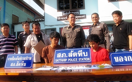 Veerayuth Kanluesanam and Pharathong Tienthong have been arrested for allegedly duplicating car keys and stealing vehicles from their car care center.