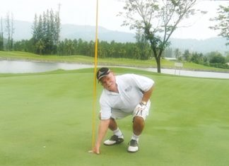 """Russell checks his ace at Khao Kheow. """"Yep, still there!"""""""