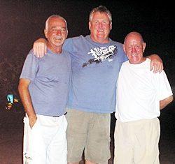 Friday's division 3 winners: Paul Chabot, Ian Plummer and Rodney Howett.