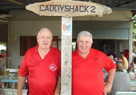 Tuesday winner Paul Kraft (left) with Jerry Hore.