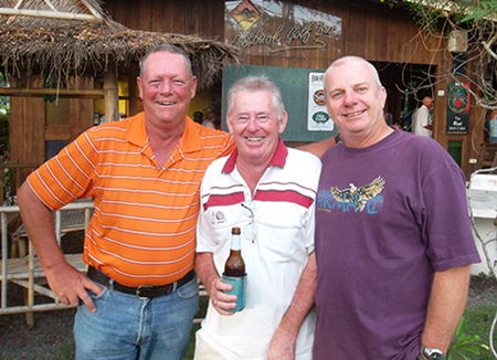 (From left) Friday podium placers Bob Dibben, Tony McDough and Sel Wegner.