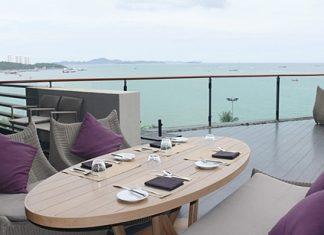 Views across Pattaya Bay.