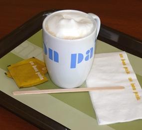 My hot latte.