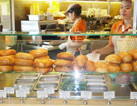 Bagel counter.