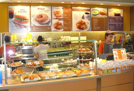 Many items are on offer, including wrap sandwiches, fresh salads, club sandwiches, you name it.