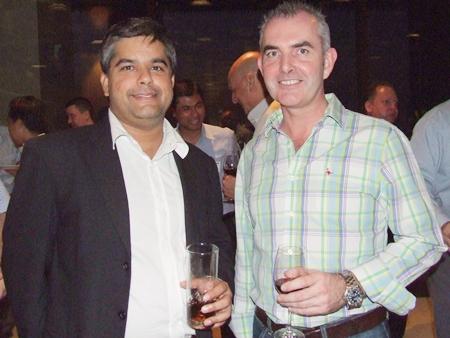 Tony Malhotra, Deputy Managing Director Pattaya Mail Publishing Co., Ltd., chats with Craig Muldoon Senior Consultant PFS international.