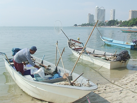 At Wong Amat, small fishermen, for whom fishing is their major source of income, are being pushed out by larger commercial boats.