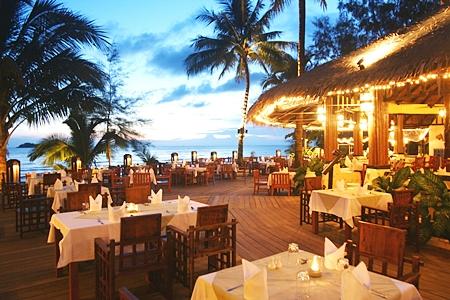 The resort's beachfront restaurant.
