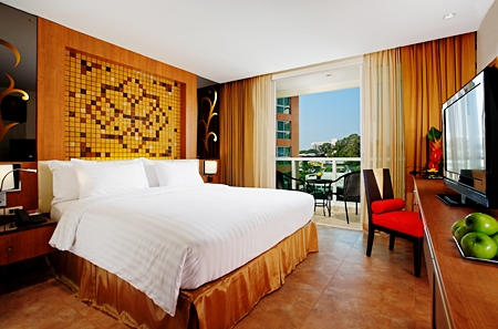 A deluxe room at the newly opened Nova Hotel & Spa Pattaya.