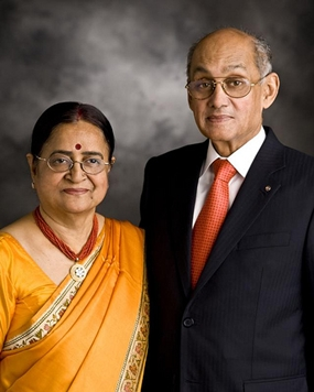 Rotary International president Kalyan Banerjee and his lovely wife Binota.