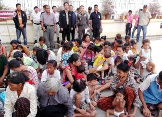 Police officials rounded up 53 Cambodians alleged to be working illegally in Thailand as beggars.