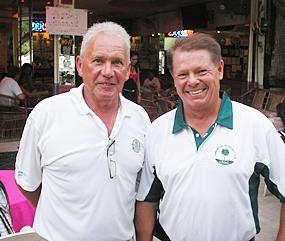Roger De Jongh and Kari Kuparinen - division winners at Emerald on Monday.
