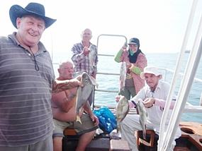 A very successful fishing day enjoyed by all.