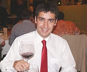 Diego Garcia is obviously proud of the wines he is representing.