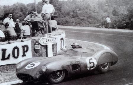The winning Aston Martin Le Mans 1959.
