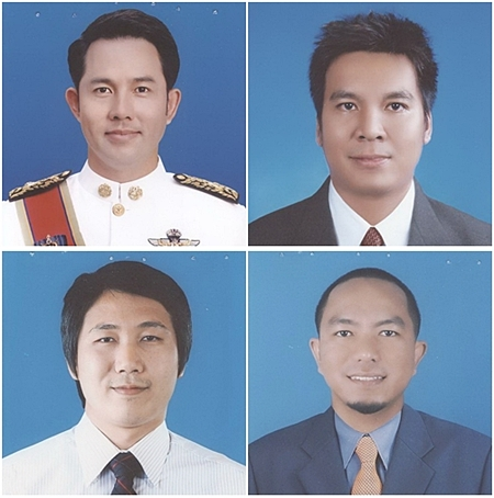 (Clockwise from top left) Itthiphol Kunplome from the Rao Rak Pattaya party, along with independent candidates Udomsak Chuenkhrut, Su-ainee Piendee, and Suphakit Suneerattanakul will be facing off this weekend, each with hopes of winning the mayor seat in Sunday's local elections.  Voters will also be deciding the fates of 35 city council candidates running in 4 different districts.