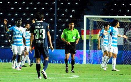 Pattaya United and Buriram fight to a 1-1 draw at the I-Mobile Stadium in Buriram on Wednesday, June 13. (Photo/Pattaya United)
