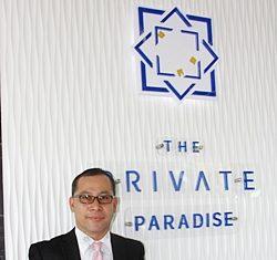 ITOH-Thai Managing Director Suthichai Rod-urai introduces The Private Paradise condominium.