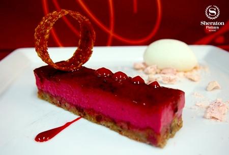 Raspberry Crème brûlée Bar.