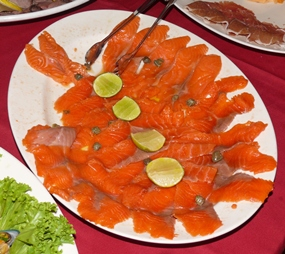 Salmon buffet.