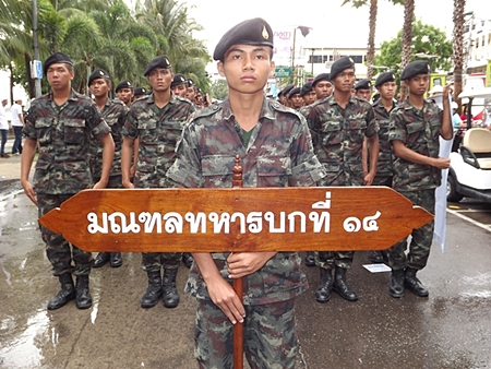 Thailand's 14th Military Group marches in the anti-drug parade.