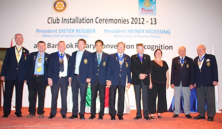 The new board for the Rotary Club of Jomtien-Pattaya.