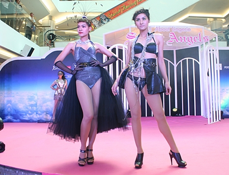 Beautiful models walk the runway in the Royal Garden Plaza's second-annual lingerie fashion show.