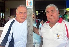 Dale Murphy, left and Herbie Ishinaga.