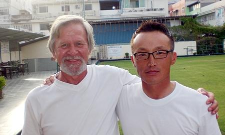 David Booth, left, winner at Crystal Bay.