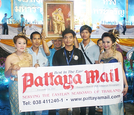 The few, the brave, the Pattaya Mail team, at least some of us, were out there showing our devotion to our beloved Queen, Mother of the Thai nation.