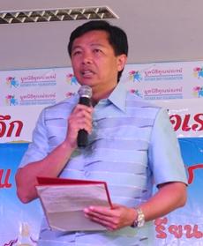 Wittaya Kunplome, Chonburi PAO president, praises the Redemptorist Vocational School for making the world a better place.