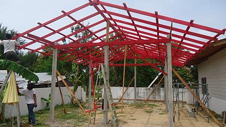 Classroom under construction.