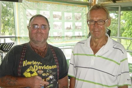 Thursday's winners Owen Walkley and Willem Lasonder.