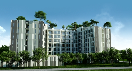 An artist's impression of the new 169-unit development.