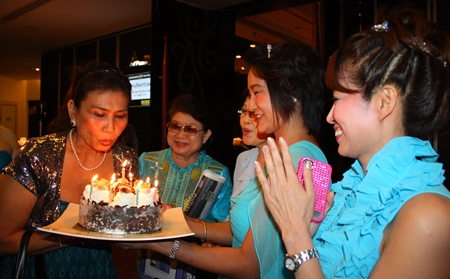Ladies of the YWCA wish Nittaya Patimasongkroh a Happy Birthday.