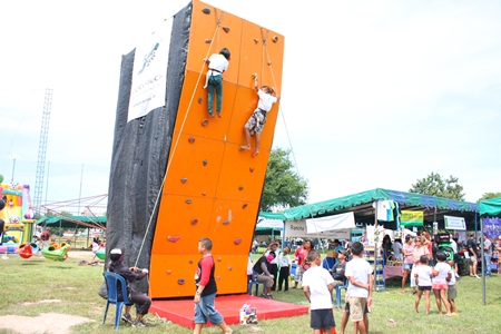 The climbing wall is great fun and exercise, too.