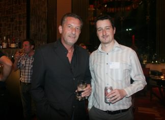 Cees Cuijpers (left) and Damien Kerneis (right) enjoy the networking evening.