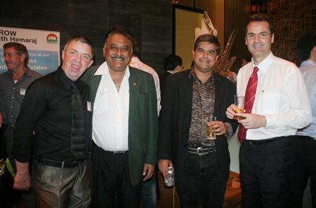 (L to R) Paul Strachan, Pratheep (Peter) Malhotra (MD of  the Pattaya Mail Media Group), Tony Malhotra (Deputy Managing Director Pattaya Mail Publishing Co., Ltd.), and Richard Margo (Resident Manager Amari Orchid Pattaya) all look quite dapper.