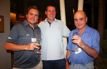 (L to R) Patric Lundin from GAC Thailand, Chris Kimpton, General Manager, GAC Thoresen Logistics Ltd., and John Faulds from GAC Thailand.