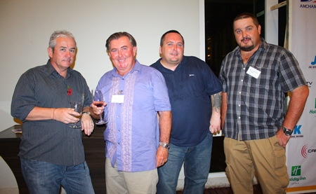 (L to R) Terry Schofield from Orion Litigation, Kevin Johnson from Pattaya Realty, Stephen Atkins, Manager of European Security Concepts and David Johnson, Logistic Coordinator Superintendent (Thailand), RCR - Solomon Ore Processing Facilities Project.
