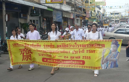 The parade and festivities were no less festive at the Sattahip Vegetarian Festival.