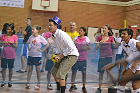 Staff took part in the fun of the games alongside students.